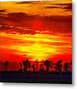 Interstate Sunset Metal Print