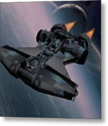 Interstellar Spacecraft Metal Print