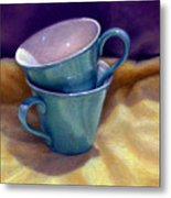 Into Cups Metal Print
