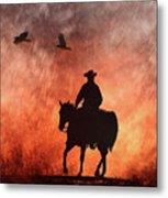 Into The Fire. Metal Print