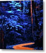 Into The Forest Of Night Metal Print