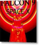 Into The Future Falcon 9 Metal Print