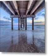 Into The Gulf At Orange Beach Metal Print