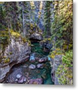 Into The Heart Of Maligne Canyon Metal Print