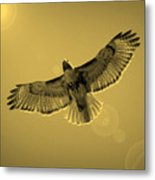 Into The Light - Sepia Metal Print