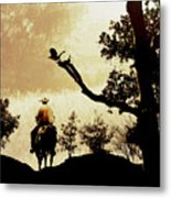 Into The Mountains. Metal Print