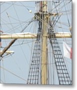 Into The Rigging Metal Print