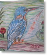 Into The Tropics The Philippine Kingfisher  Metal Print