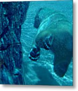 Into The Wild Blue Metal Print
