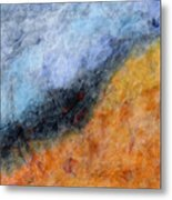 Into The Wind Abstract Metal Print