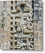 Intricate Details Of Mayan Ruins Metal Print