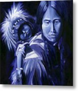 Inuit Mother And Child Metal Print