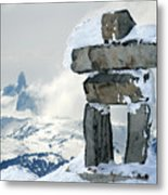 Inukchuk Whistler Metal Print by Pierre Leclerc Photography
