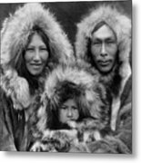 Inupiat Family Portrait - Alaska 1929 Metal Print