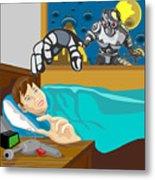 Invading Alien Robot Metal Print by Aloysius Patrimonio