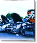 Invasion Of The Import Cars Metal Print