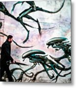 Invation In   A Street . Metal Print