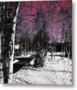 Invernal Landscape Metal Print