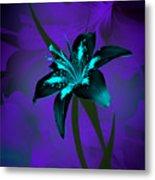 Inverse Lily Metal Print