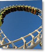 Inverted Roller Coaster Metal Print