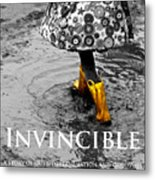 Invincible - A Story Of Guts - Determination - And Goloshes Metal Print