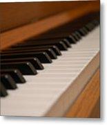 Invisible Pianist Metal Print