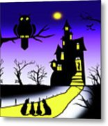 Invited To The Cat House Metal Print