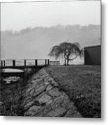 Inwood Hill Park In Fog Metal Print