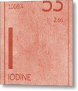 Iodine Element Symbol Periodic Table Series 053 Metal Print