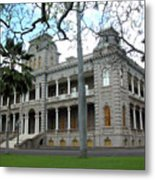 Iolani Palace, Honolulu, Hawaii Metal Print