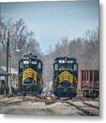 ioneer Lines PREX 912 and 806 at Evansville Indiana Metal Print