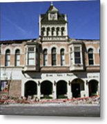 Watsonville I. O. O. F. Building Built In 1893  Damaged By The Loma Prieta Earthquake 1989 Metal Print