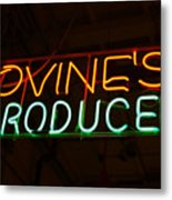 Iovines Produce Metal Print