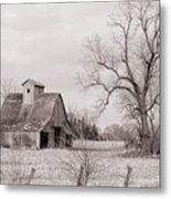 Iowa Farm Metal Print