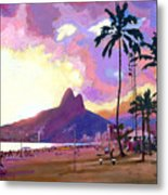 Ipanema Sunset Metal Print