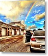 #iphone # Rainbow Metal Print