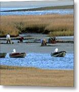 Ipswich River Clammers 2 Metal Print