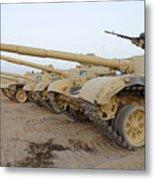 Iraqi T-72 Tanks From Iraqi Army Metal Print