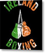 Ireland Boxing Color Light Boxers Irish Cool Gift Funny Flag Metal Print