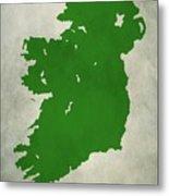 Ireland Grunge Map Metal Print