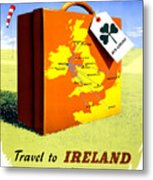 Ireland Vintage Travel Poster Restored Metal Print