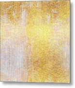 Iridescent Abstract Non Objective Golden Painting Metal Print