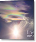 Iridescent Clouds Near The Sun Metal Print