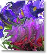 Iris And Tulip Metal Print