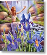 Iris - Fine Tune Metal Print by Anne Wertheim