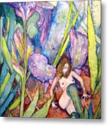 Iris Grantor Of Hope Wisdom And Inspiration - Watercolor Metal Print