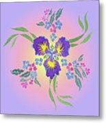 Iris Pinwheel Metal Print