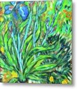 Irises Ala Van Gogh Metal Print