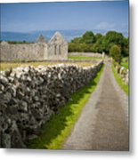 Irish Church Ruins Metal Print