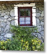 Irish Cottage Window County Clare Ireland Metal Print